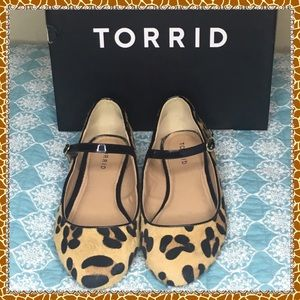 Torrid Flat animal print heel shoe
